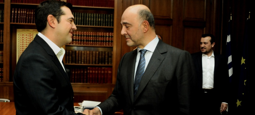 Positive Messages and Warnings from Moscovici in Athens