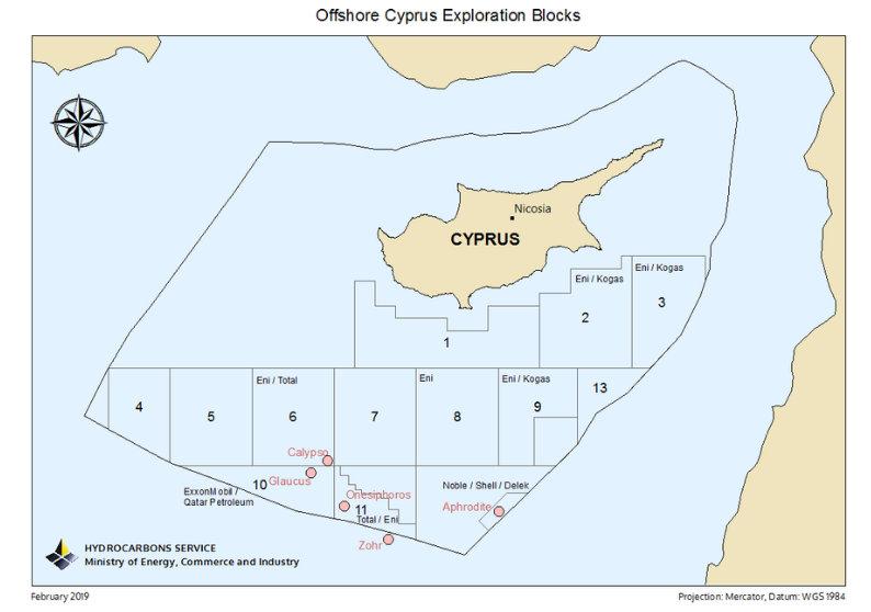 "5 to 8 Tcf natural gas estimate the deposit at the ""Glaucus-1"""