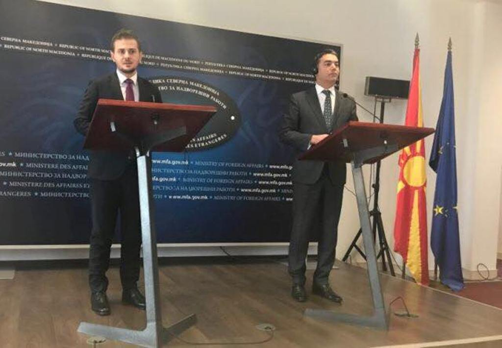 Dimitrov and Cakaj meet in Skopje to discuss issues of cooperation