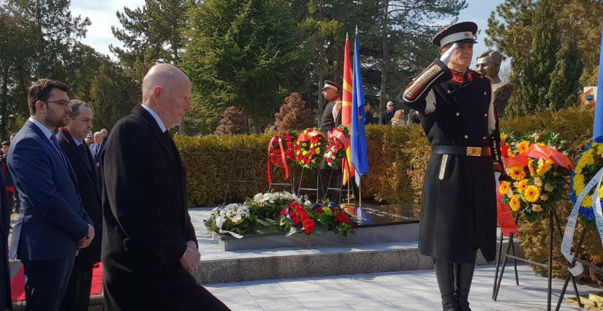 Bulgarian Deputy Foreign Minister participates in commemoration in Skopje of President Trajkovski