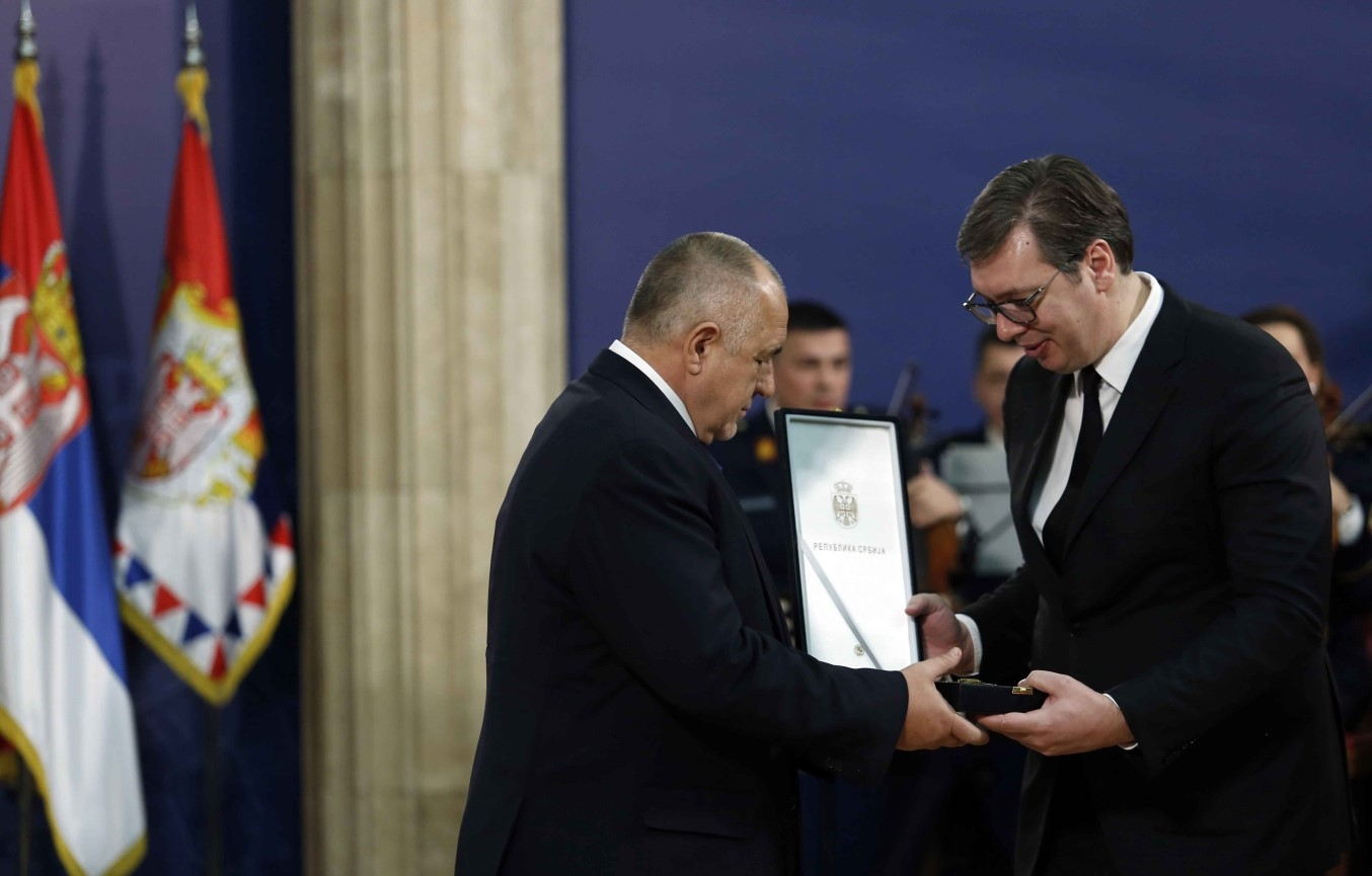 Serbia confers highest state honour on Bulgarian PM Borissov