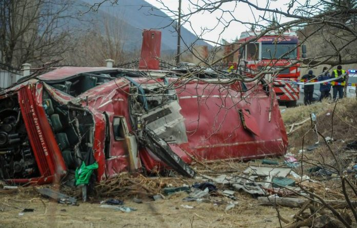 Authorities in North Macedonia launch an investigation into the deadly accident