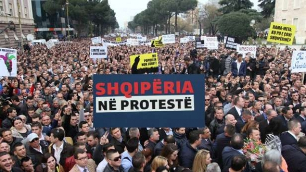 Opposition in Albania getting ready for today's demonstration