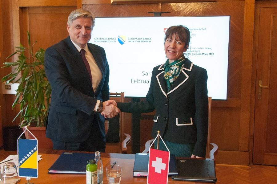 Švajcarska Vlada podržava Centralnu banku BiH