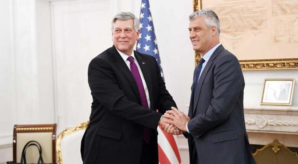 Partnership with the US is vital for Kosovo, says president Thaci
