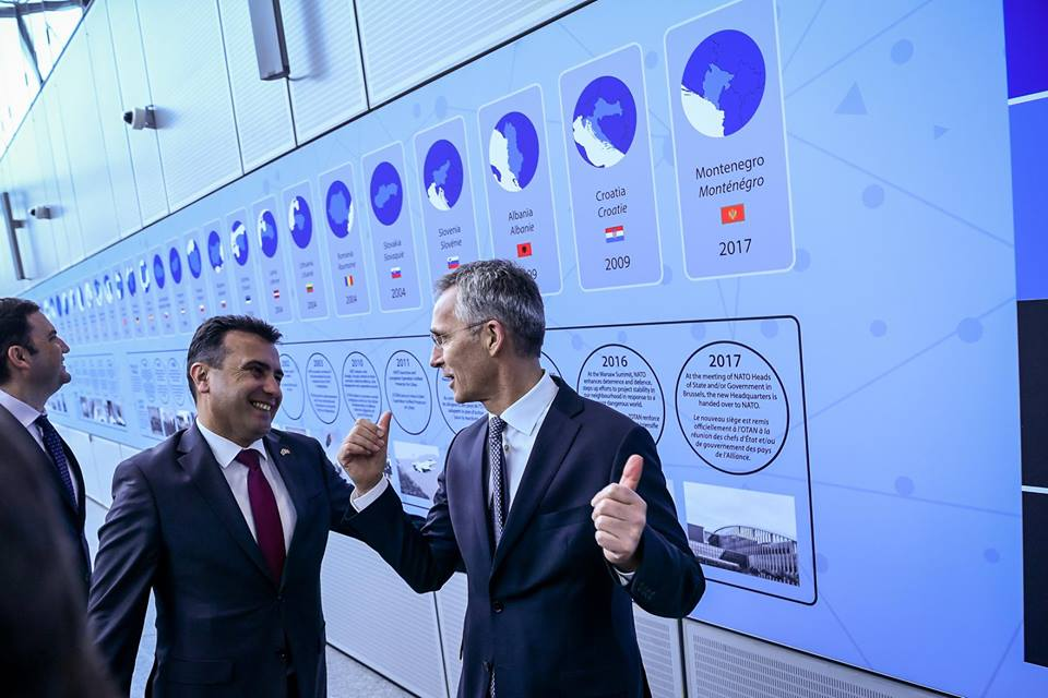 Zaev meets top EU and NATO officials in Brussels