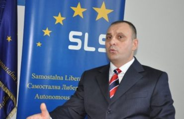 A physical incident provokes a row between Serb politicians in Kosovo