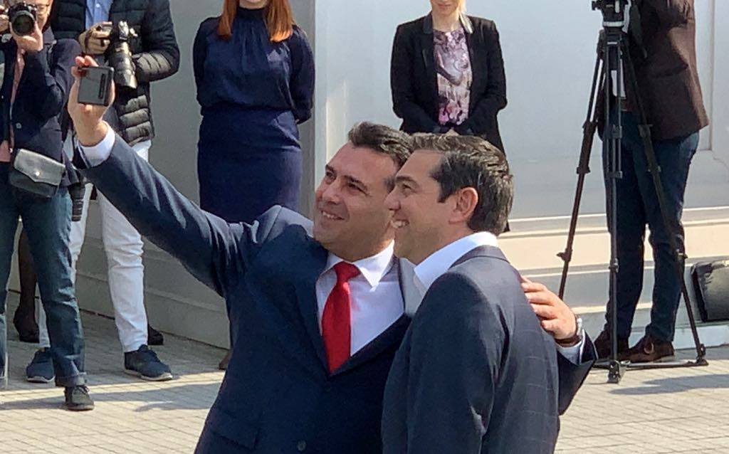 Tsipras given a warm welcome in Skopje