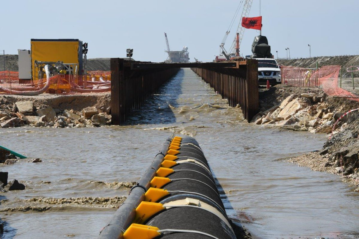 Another step has been taken towards the completion of the TAP pipeline