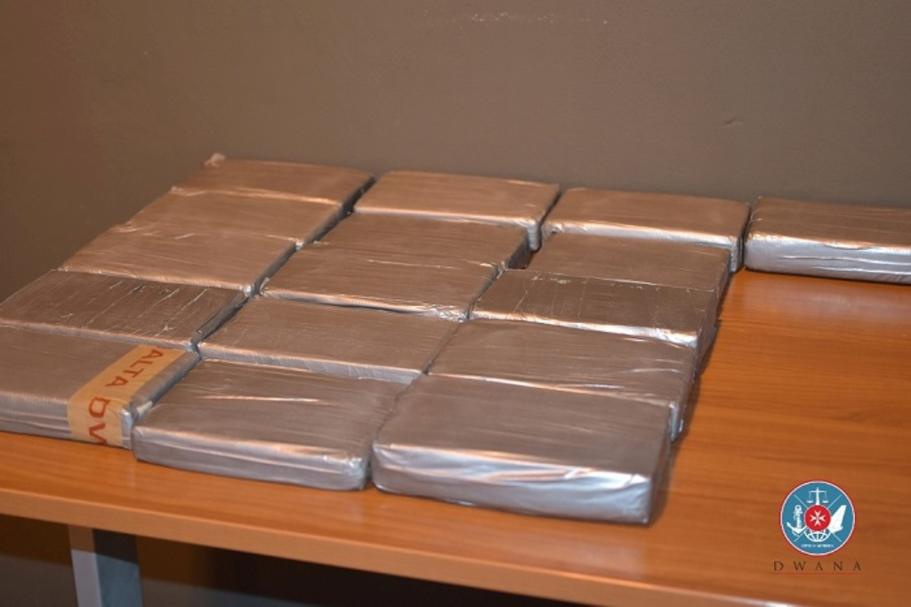 10 million euros worth of cocaine seized  seized by Maltese authorities, destination Albania