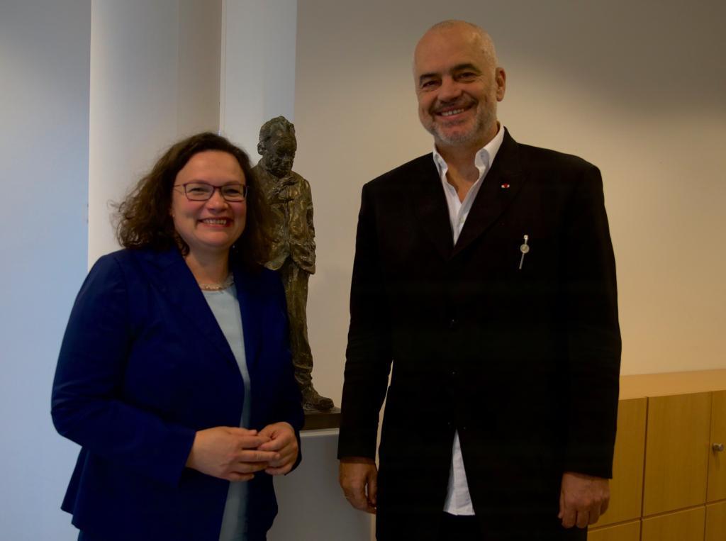 PM Rama meets German social democrat leader