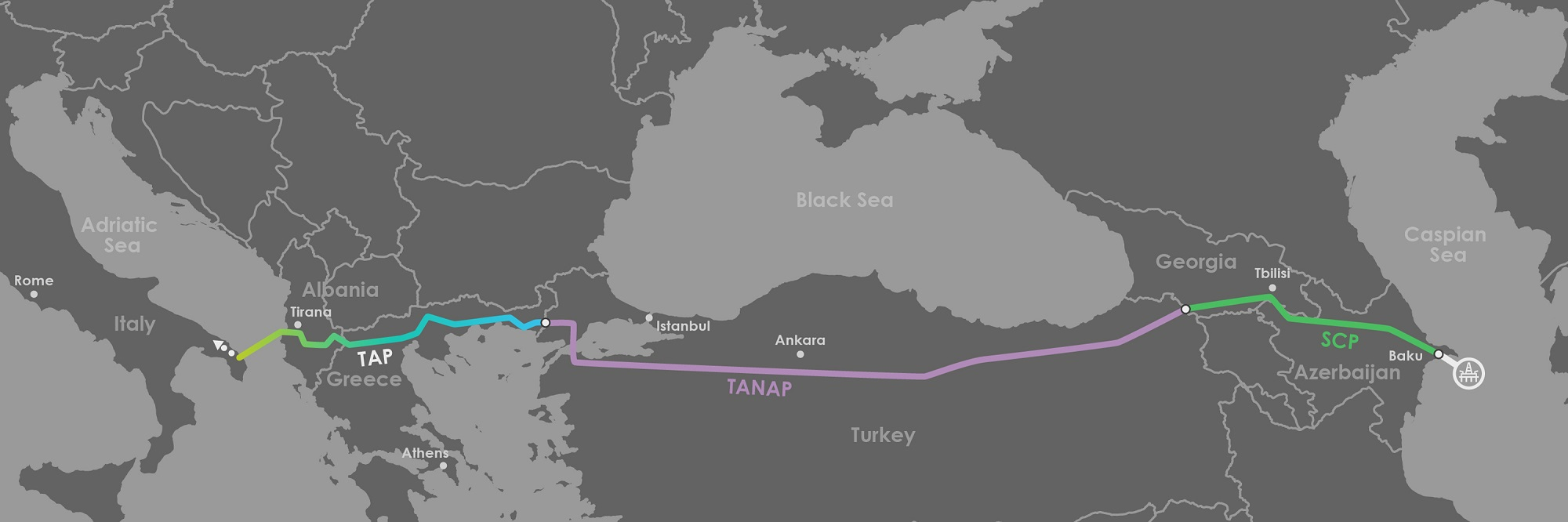 TAP pipeline makes it through the Albanian mountains