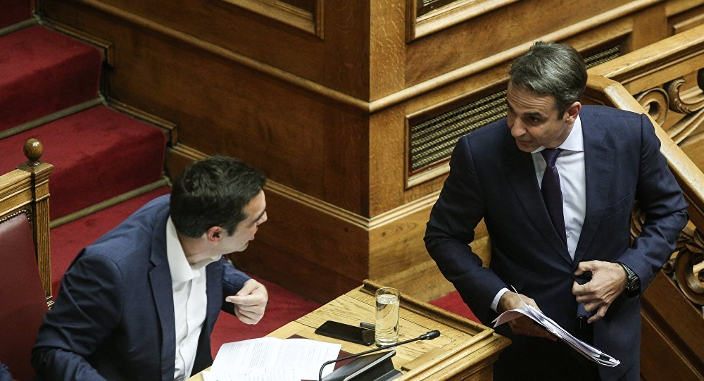 Tsipras, Mitsotakis clash during confidence vote debate
