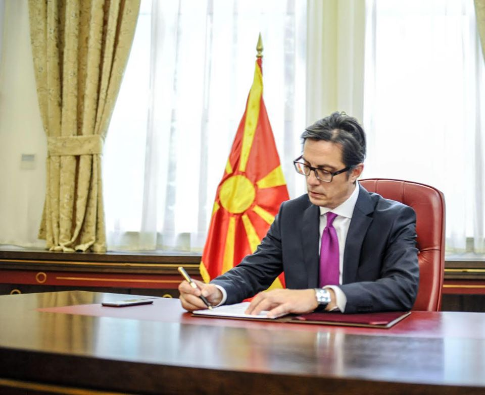 North Macedonia's Pendarovski starts his first day in office with a message for reconciliation