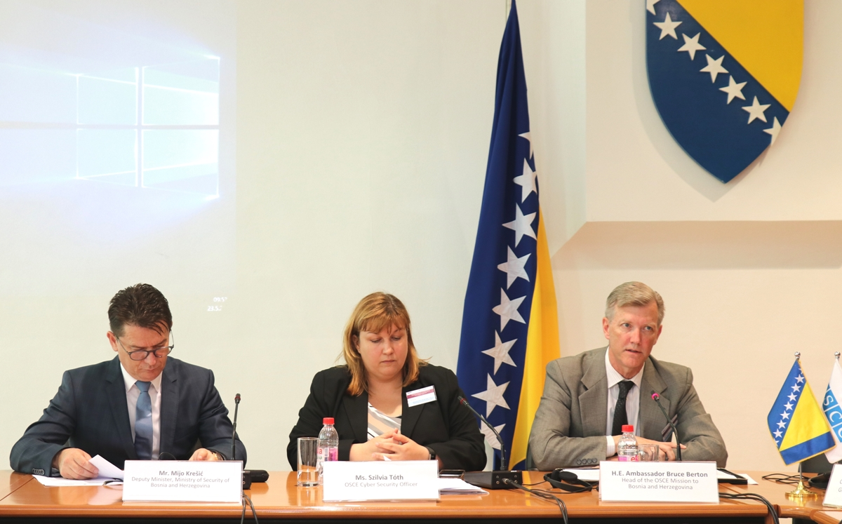 Participants from seven countries in Sarajevo discuss ITC security