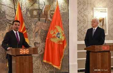 Zaev in Montenegro, a joint session of two governments