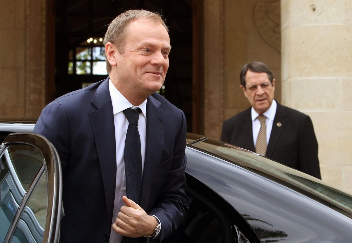 Anastasiades briefed Tusk on the Turkish drilling activities