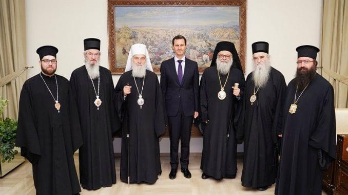 Serbian Patriarch meets Bashar al-Assad