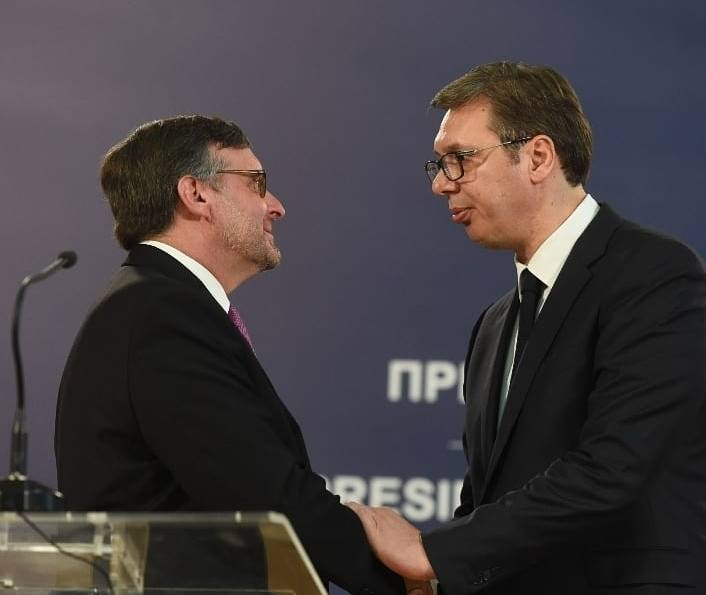 The talks with US are not easy, Vucic says