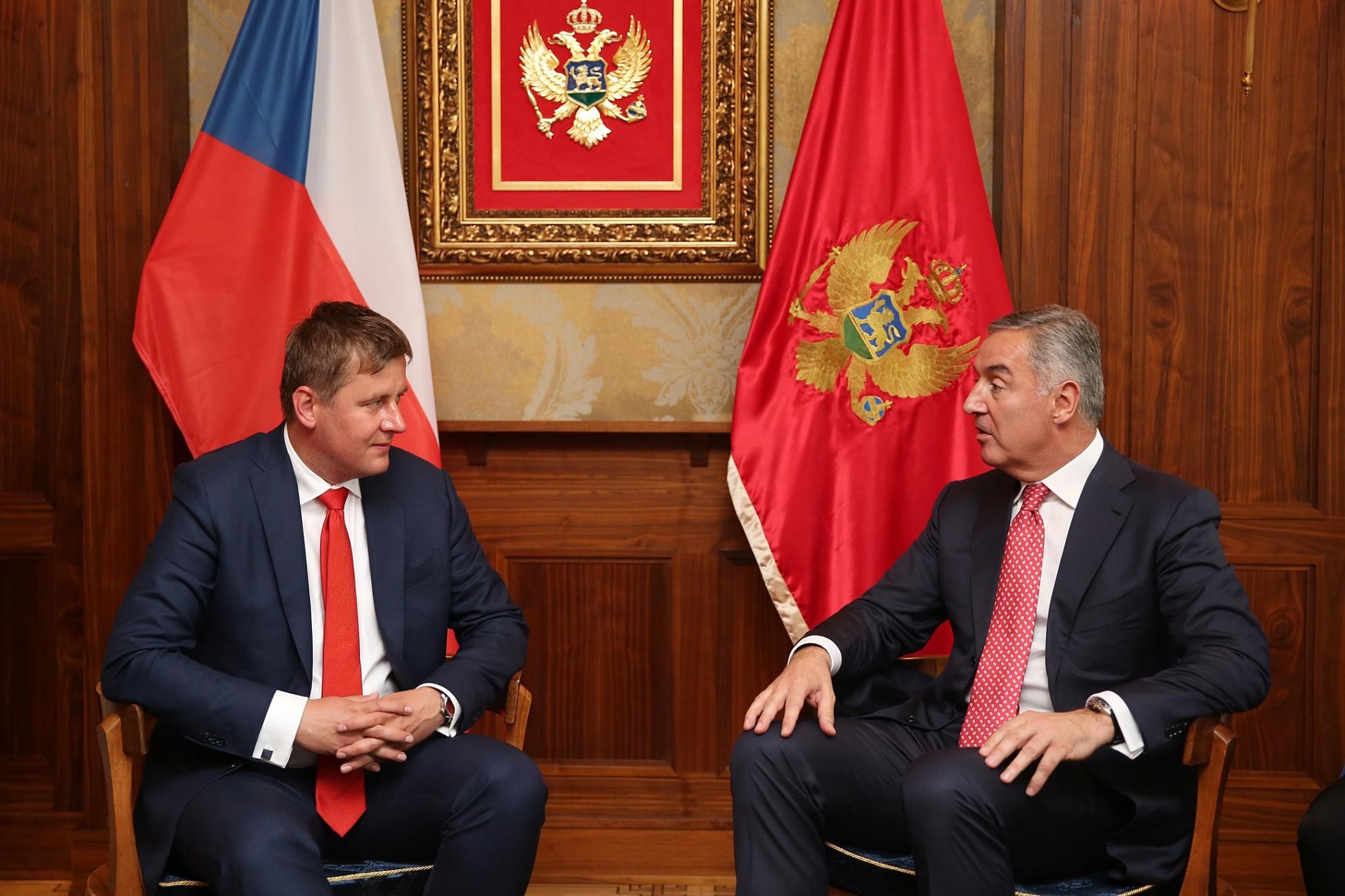 Czech Republic FM Tomaš Petriček in an official visit to Montenegro