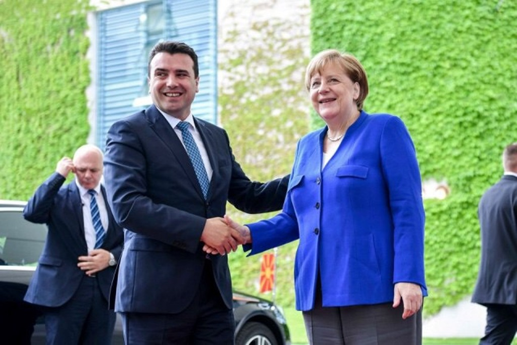 North Macedonia's Zaev says he comes back  from Germany with a promise