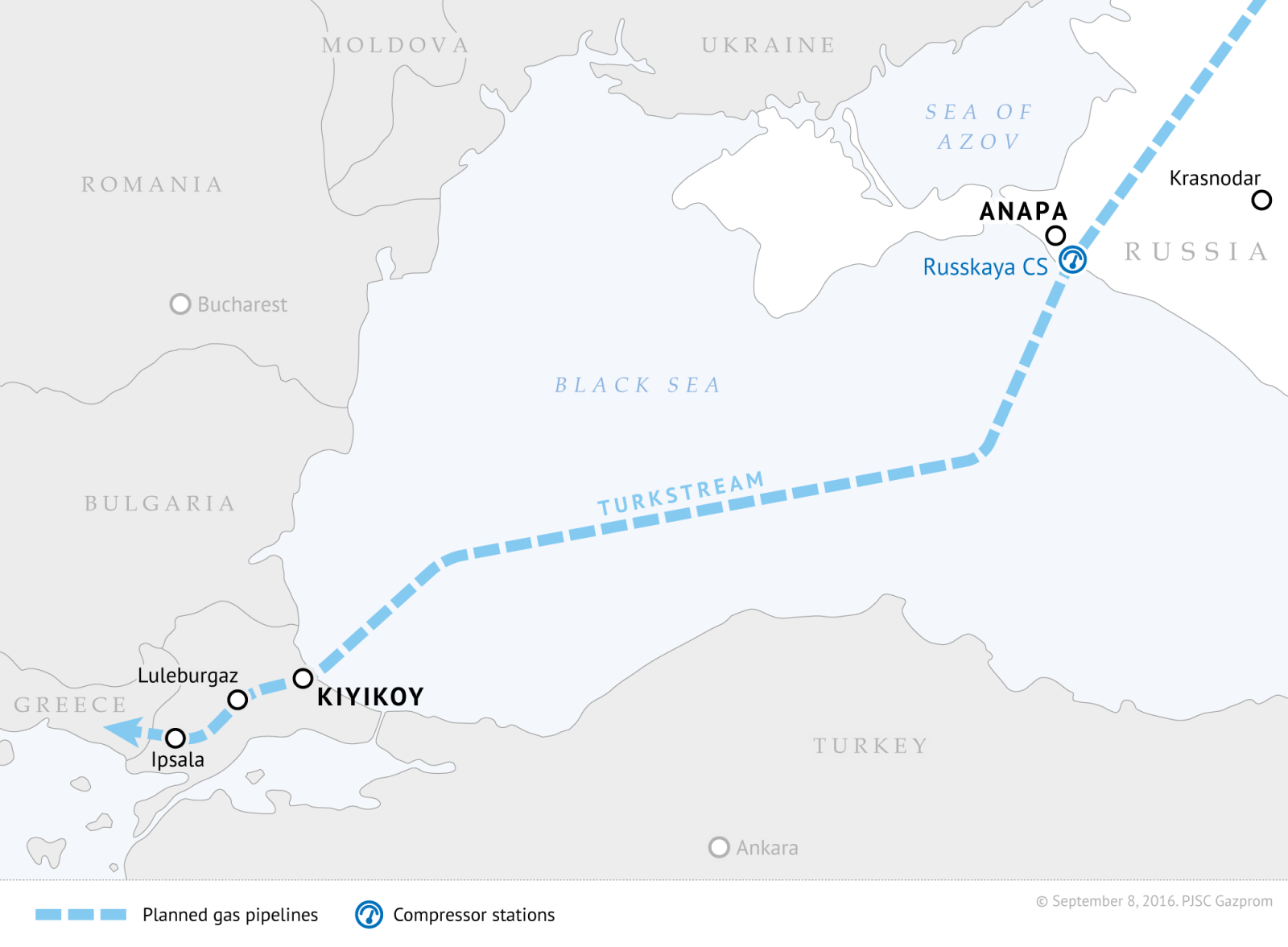 The part of the Turkish Stream under the Black Sea has been completed