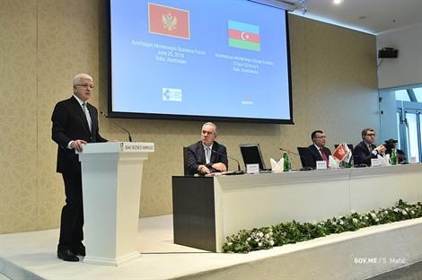 Montenegro PM Marković on an official visit to Azerbaijan