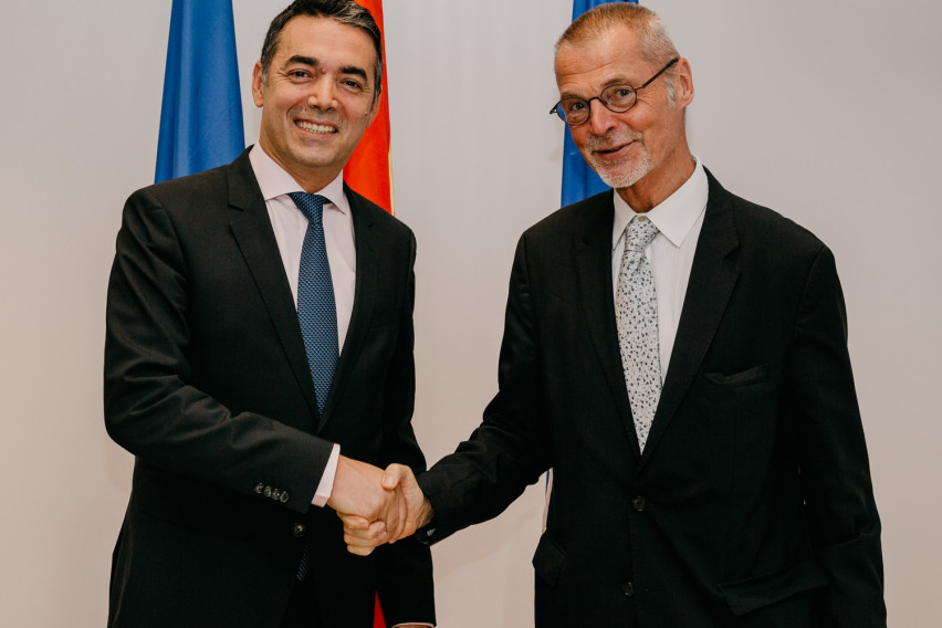 North Macedonia's Dimitrov meets NATO Assistant Secretary General