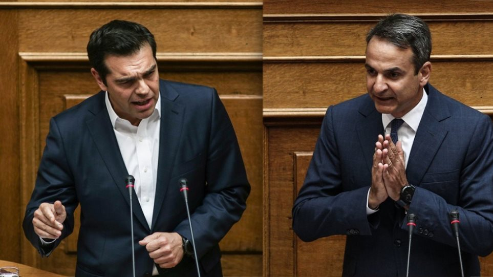Mitsotakis, Tsipras clash over crisis in Greek football