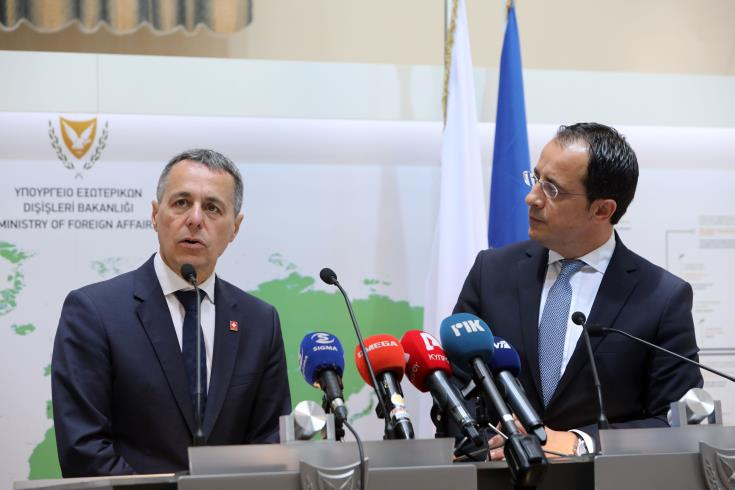 Cyprus' Foreign Minister sends Cavusoglu a message through the Swish Foreign Minister