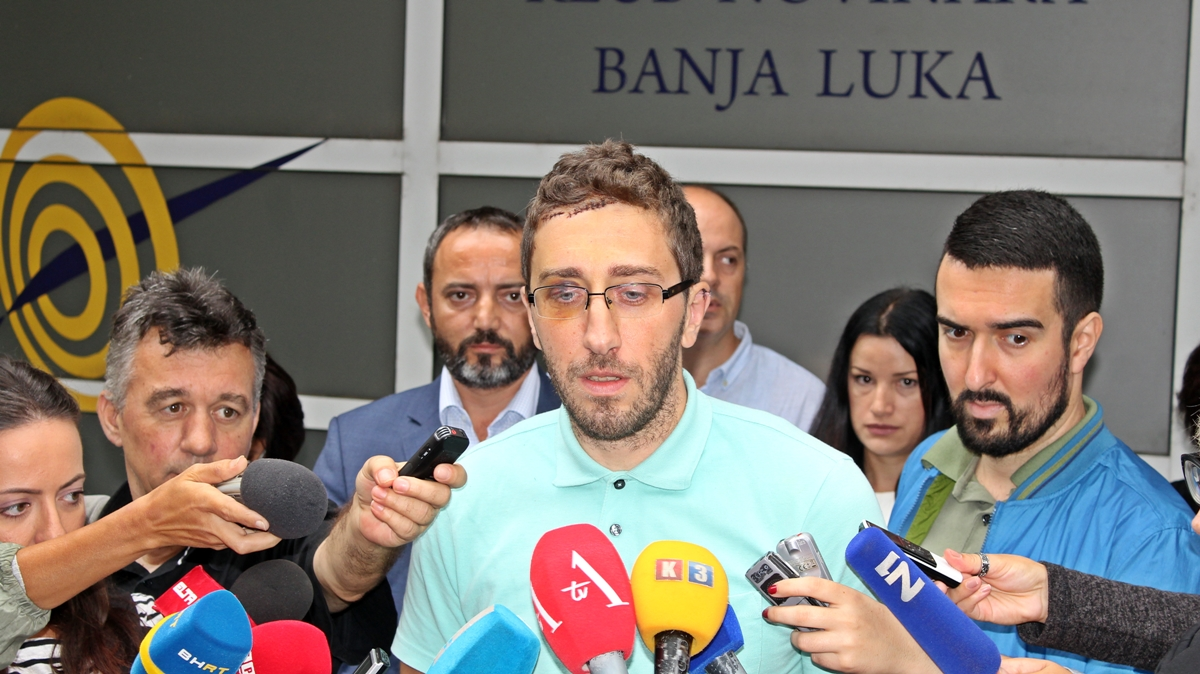 Journalist attacker convicted at Banja Luka Court