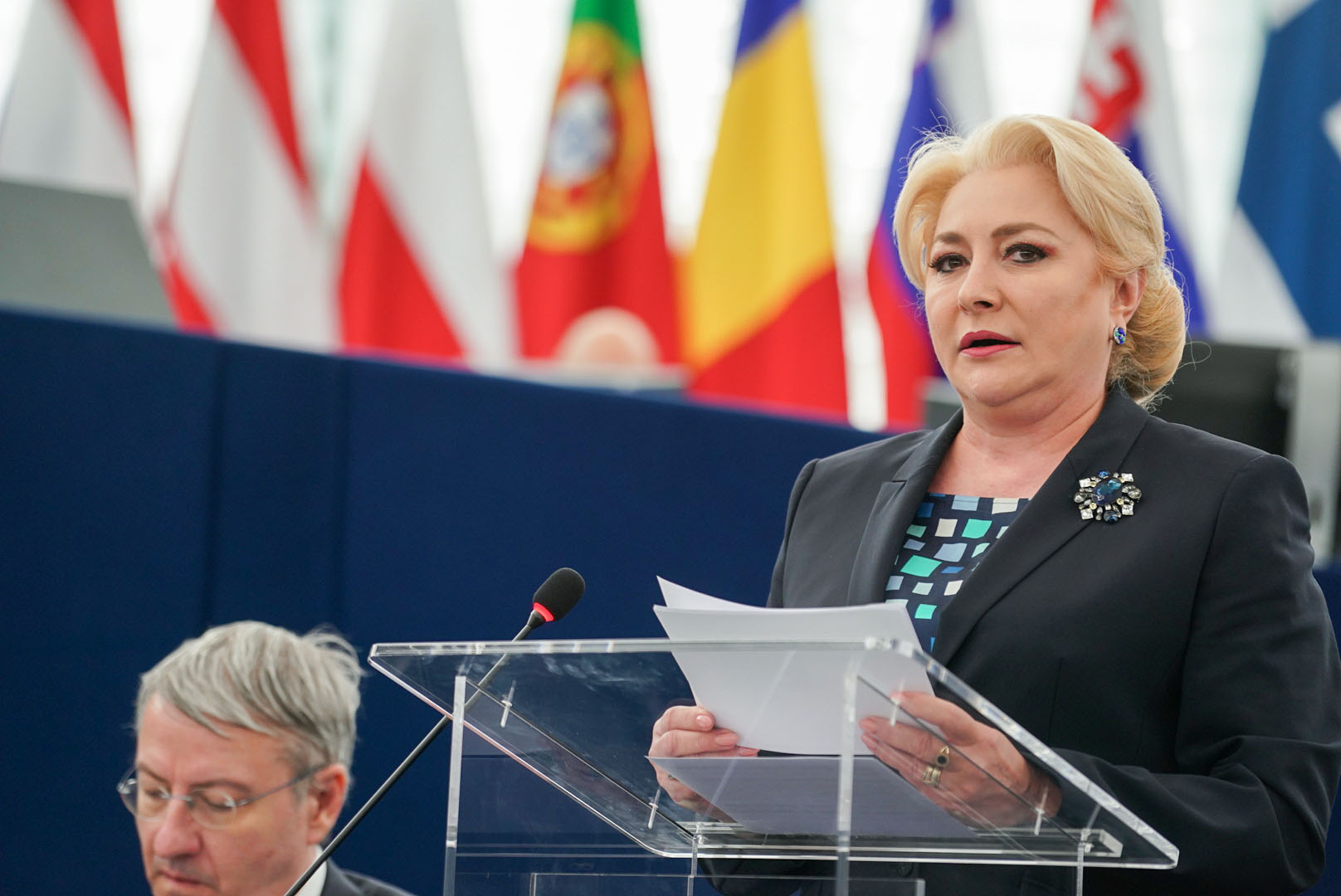 Viorica Dancila briefs the European Parliament on the Romanian presidency