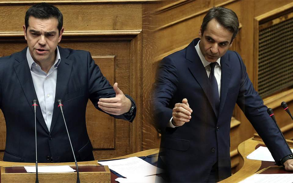 Mitsotakis, Tsipras clash in parliament ahead of vote of confidence