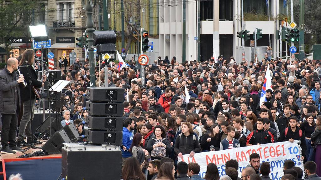 The abolition of university asylum makes students and academics take to the streets