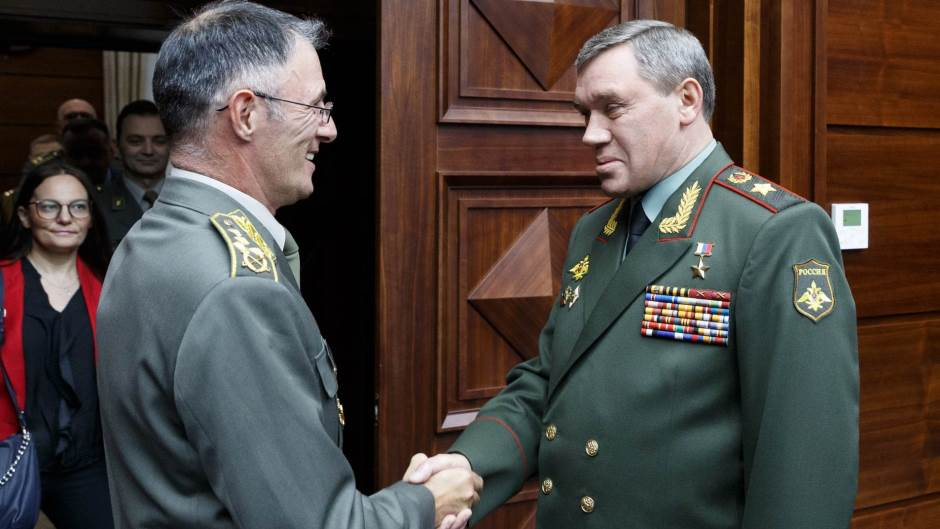 """The Serbian army has Moscow's """"support"""" over Kosovo"""