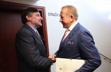 Minister Pacolli met with Ambassador Palmer