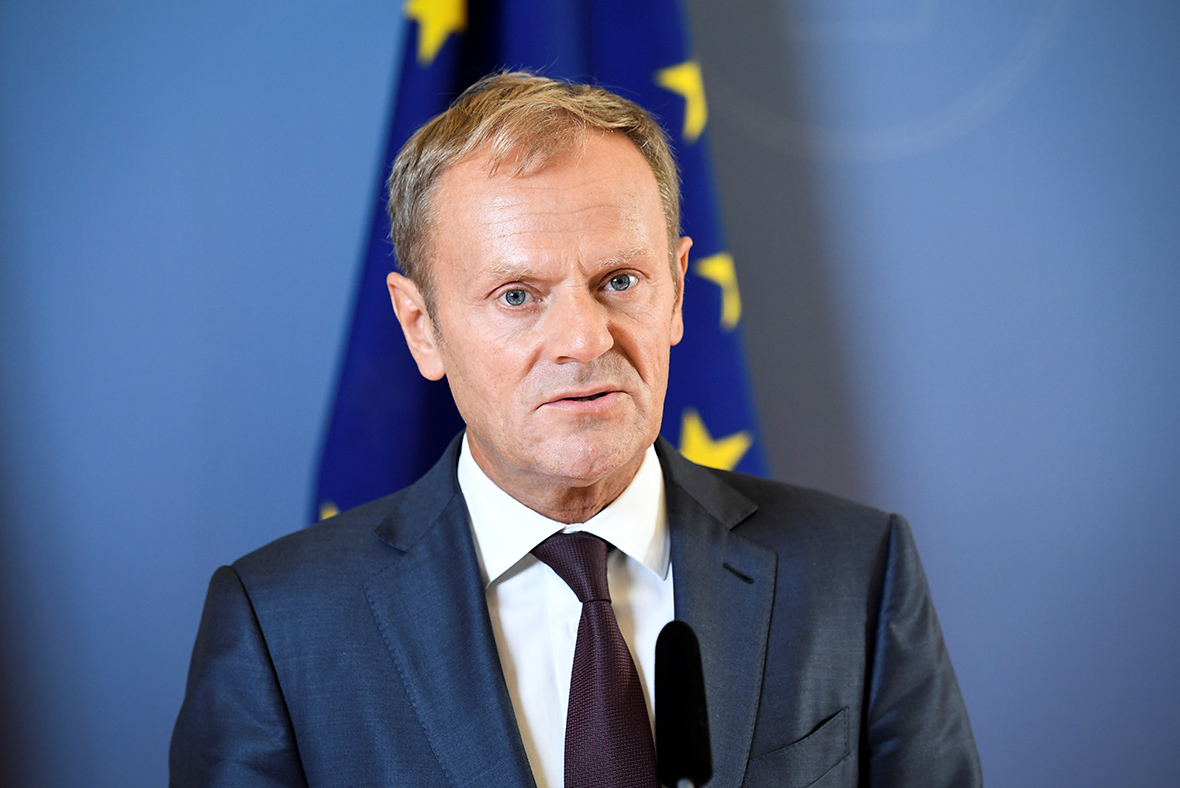 Donald Tusk on an official visit to Skopje on Tuesday