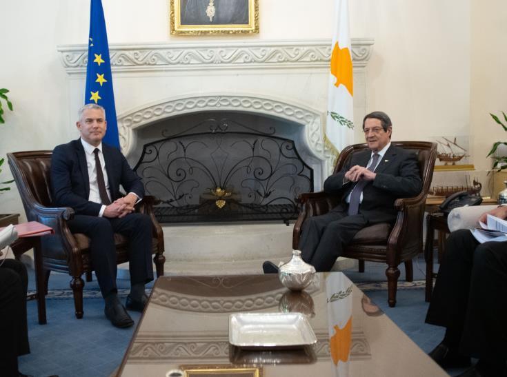 Britain praises President Anastasiades' stance on Brexit