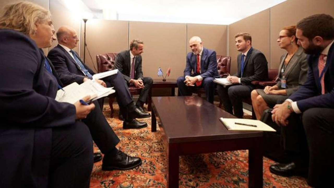 Mitsotakis, Rama discuss bilateral relations, Albania's EU accession course