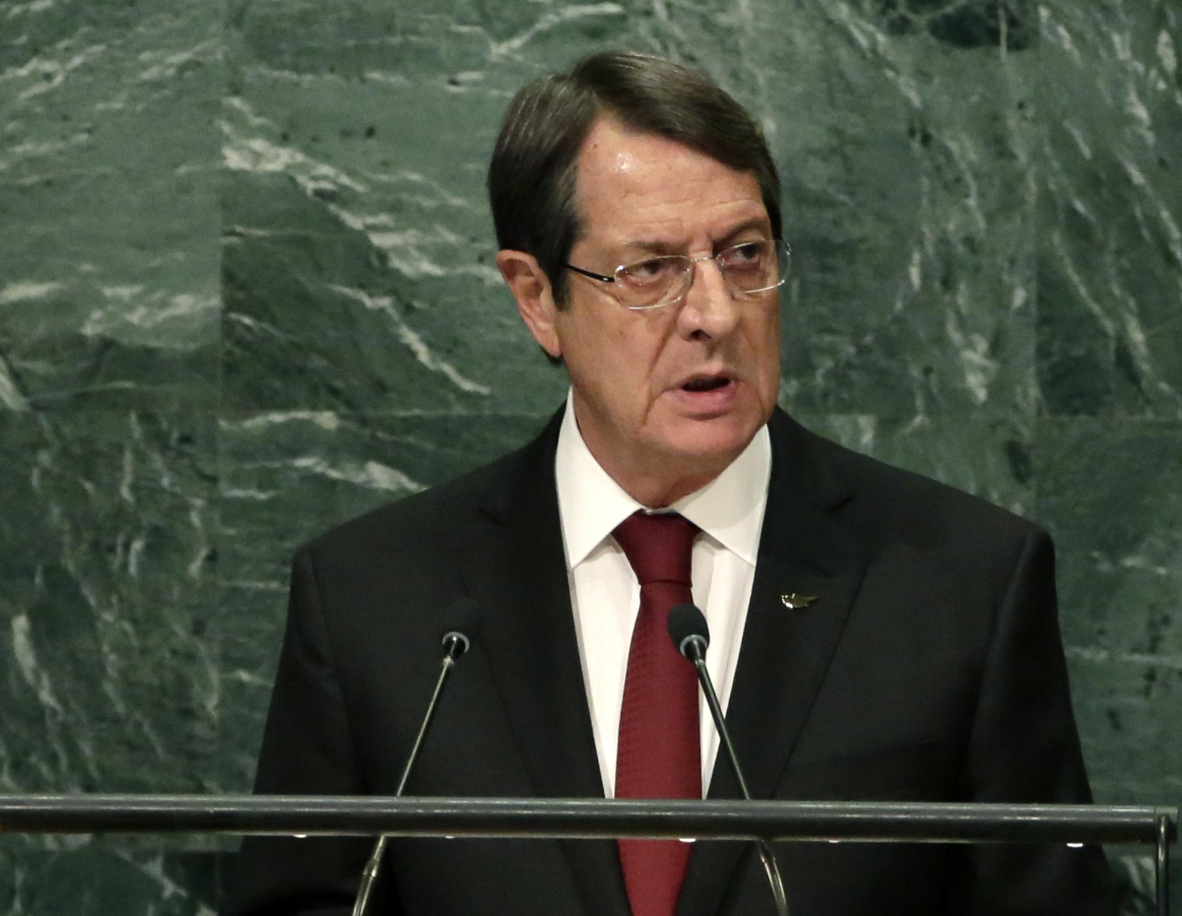 Anastasiades' UN speech focuses on BBF
