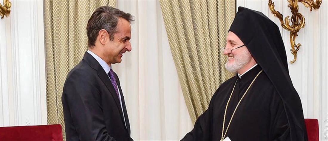 Kyriakos Mitsotakis met with the Archbishop of America Elpidoforos