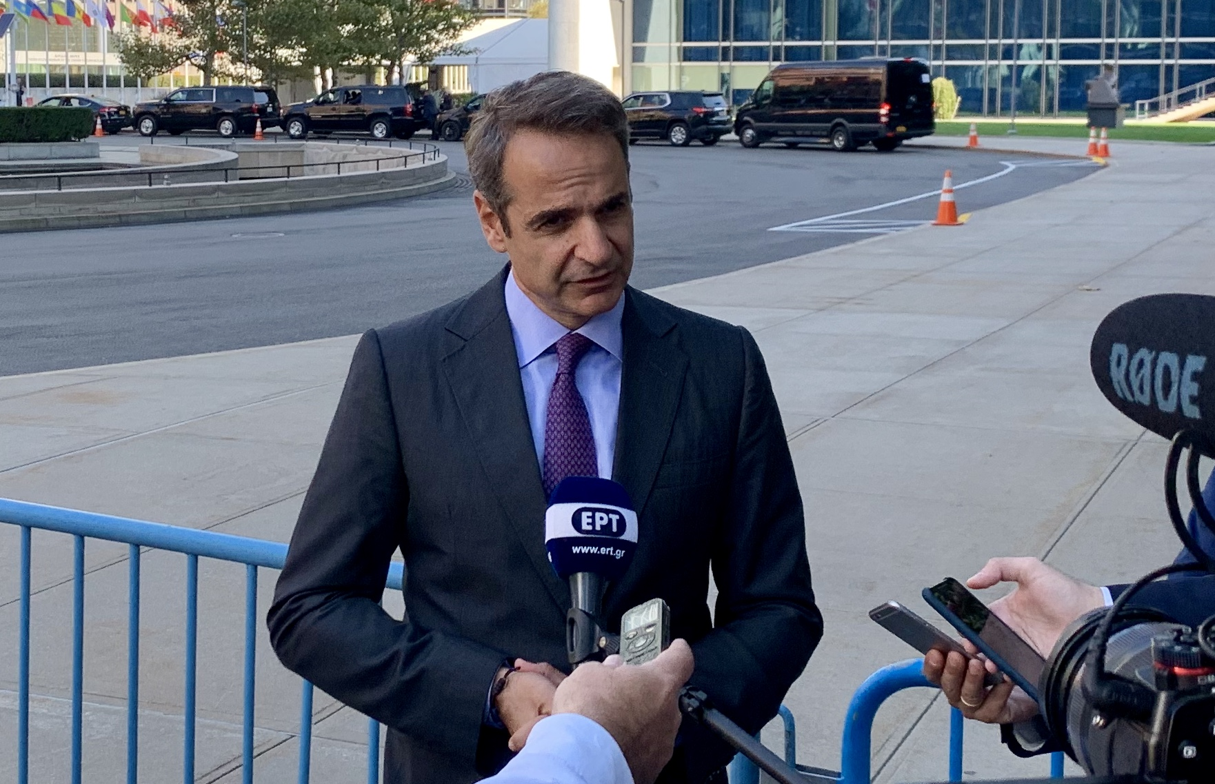 Kyriakos Mitsotakis speaks about North Macedonia, attracting investments and meeting with Erdogan