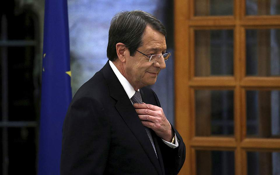 Anastasiades joined the Permanent Representatives of the Security Council's 5 Permanent Members in lunch