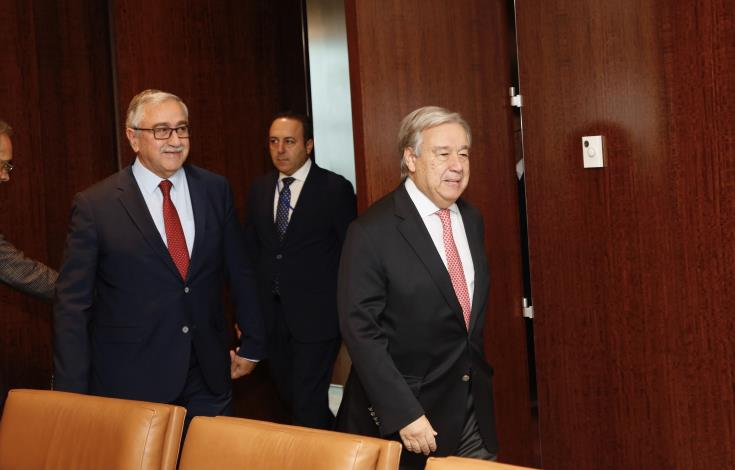 UN SG, Akinci exchanged views on the prospects for renewed Cyprus talks