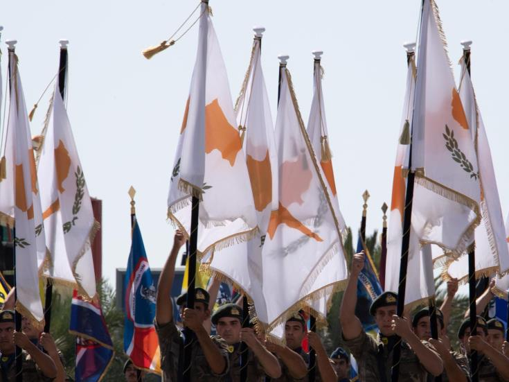 Military parade events for the Republic of Cyprus independence anniversary culminate