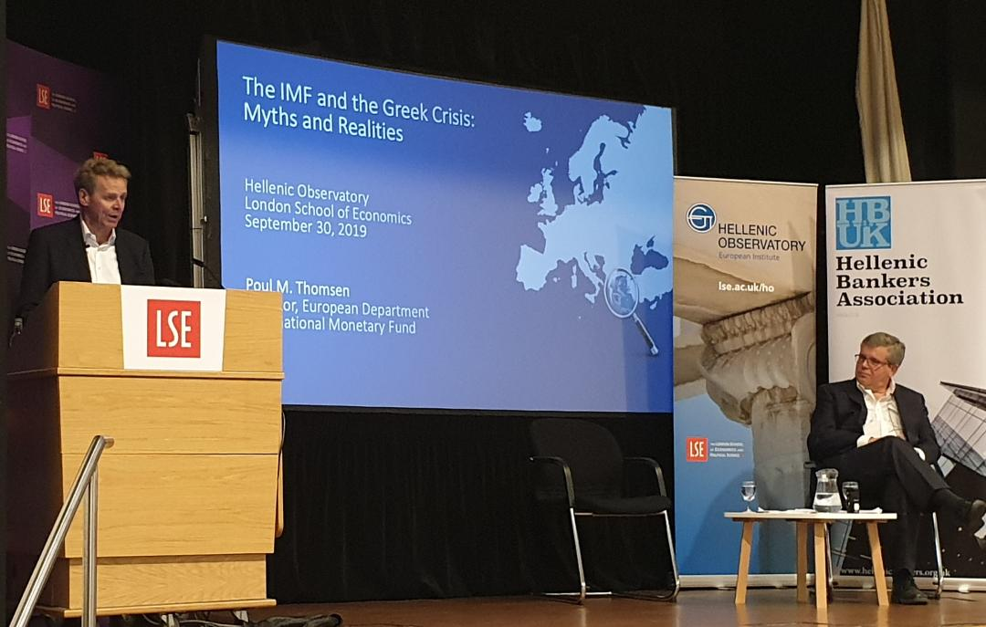 Previous Greek government chose to meet high primary surplus targets, P. Thomsen says