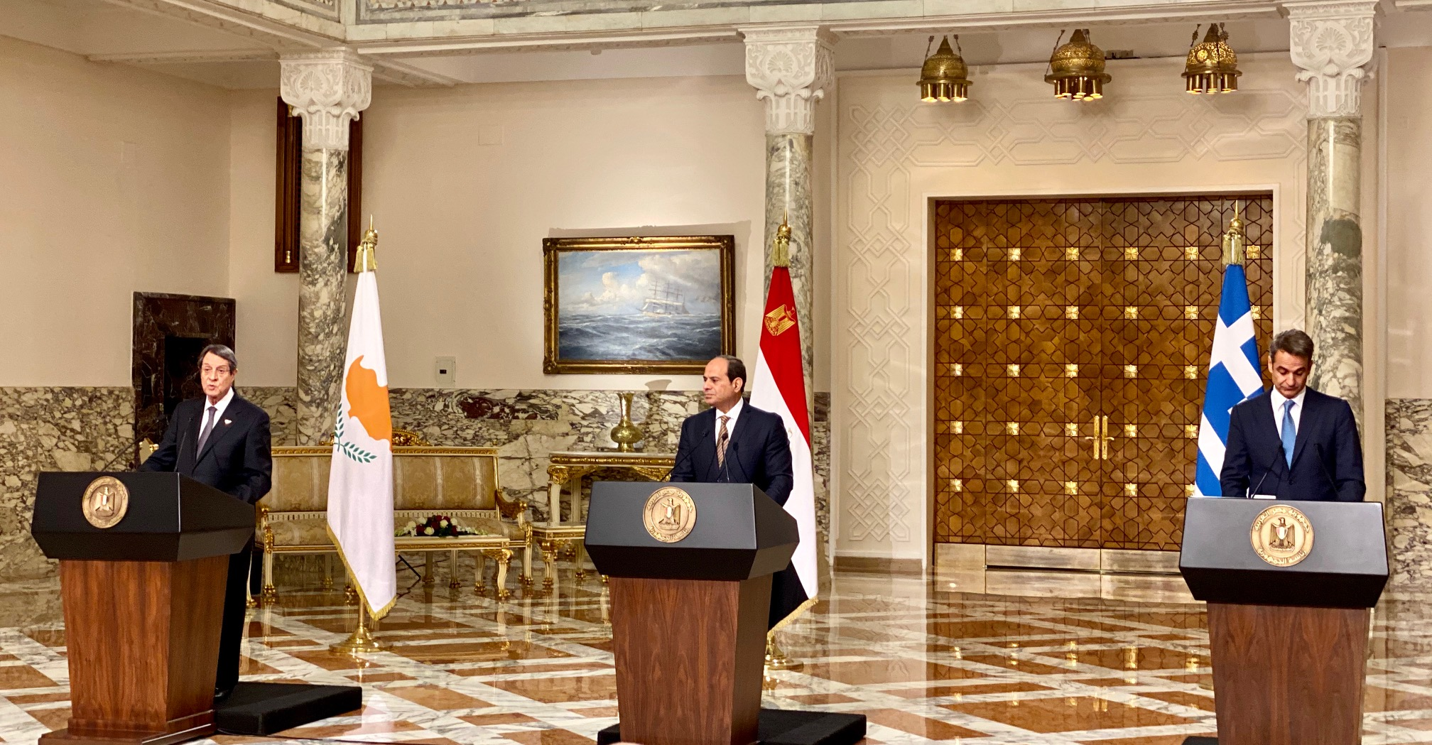 Cyprus-Greece-Egypt Tripartite Summit was held today in Cairo