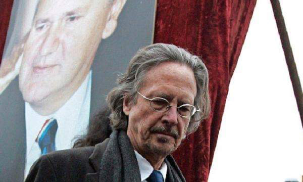 Protest in Pristina against the decision to award Peter Handke with the Noble Prize
