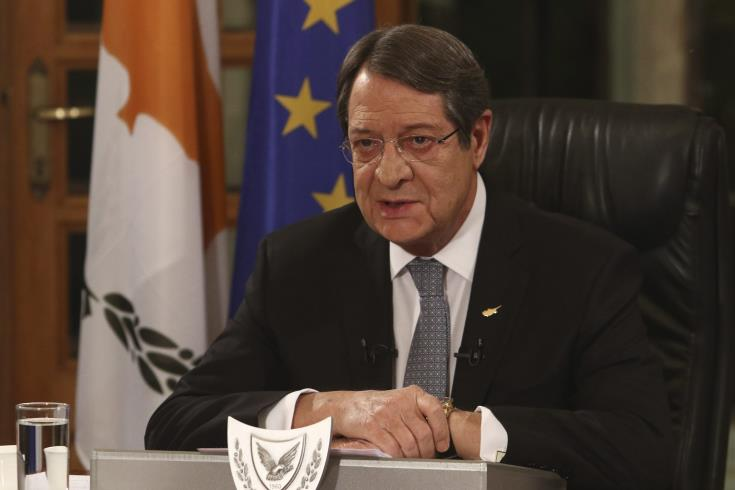 Anastasiades expresses satisfaction with the adoption of the EC's Conclusions on Turkey