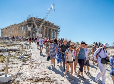21.8 million tourists visited Greece in the first eight months of 2019